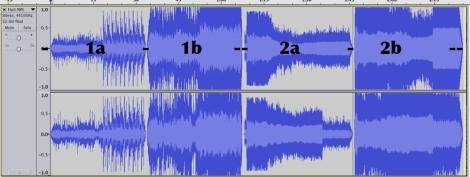 1a, 1b: stessa parte prima originale, poi remasterizzata 2a, bb: stessa parte prima originale, poi remasterizzata